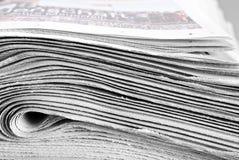 Hoop van gevouwen kranten Royalty-vrije Stock Afbeelding