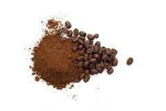 Hoop van koffiebonen Stock Foto