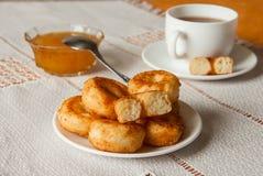 Hoop van kwark donuts Royalty-vrije Stock Foto's