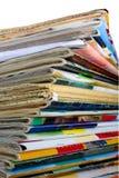 Hoop van multi-coloured oude tijdschriften Stock Foto