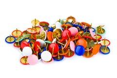 Hoop van multicolored spelden Royalty-vrije Stock Foto