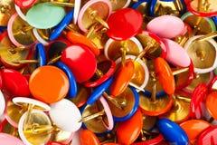 Hoop van multicolored spelden Stock Afbeelding