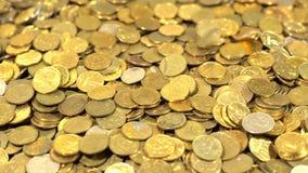 Hoop van muntstukken stock videobeelden