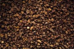 Hoop van onmiddellijke koffie voor Hoge close-up als achtergrond - kwaliteit stock afbeelding