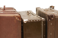 Hoop van oude koffers Stock Foto
