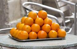 Hoop van Sinaasappelen stock afbeelding