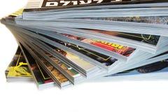 Hoop van tijdschriften Stock Foto
