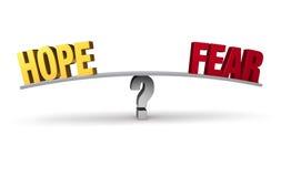 Hoop of Vrees? royalty-vrije illustratie