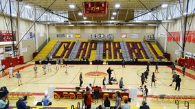 2018 Hoophall West at Chaparral High School in Scottsdale, AZ. Ariel view of the Chaparral Main Gym at Hoophall West, Chaparral High School, Scottsdale Arizona stock image