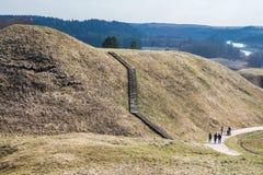 Hoopheuvels in Litouwse historische hoofdkernave Royalty-vrije Stock Afbeeldingen