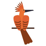 Hoopoe bird exotic icon. Vector illustration eps 10 Royalty Free Stock Photography