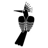 Hoopoe bird exotic pictogram. Vector illustration eps 10 Stock Photography