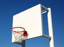 Hoops. Outdoor basketball hoop against the blue sky Stock Images