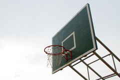 Hoops basketball. On sky background Stock Photo
