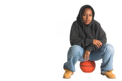 Hoops Girl Royalty Free Stock Photography