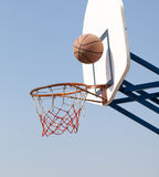 Hoops. Playing in the street basketball stock photography