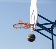 Hoops. Playing in the street basketball royalty free stock photos