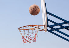 Hoops. Playing in the street basketball royalty free stock image