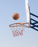 Hoops. Playing in the street basketball royalty free stock images