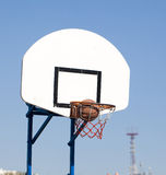 Hoops. Playing in the street basketball royalty free stock photo