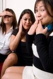 Hoor, spreek en zie geen kwaad - de Reeks van Mensen Stock Foto