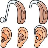 Hoorapparaten stock illustratie