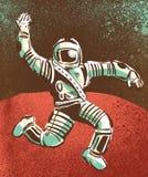 Hooray för astronaut Arkivfoto