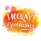 Hooray, It S Time For A Giveaway. Banner For Royalty Free Stock Photo