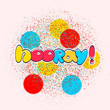 Hooray sign banner Royalty Free Stock Images