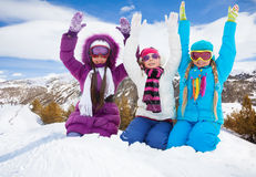 Hooray, winter fun Stock Photo