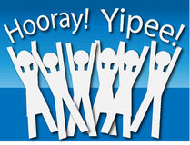 Hooray! Yippee! (Vector) Stock Images
