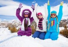 Hooray, zimy zabawa Zdjęcie Stock