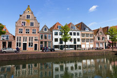 Hoorn canal houses Stock Photo