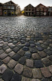 Hoorn. THE NETHERLANDS - OCTOBER 22: Cobblestone pavement on a Dutch street,  on October 22, 2013 in , The Netherlands Stock Photo