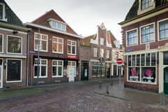 Hoorn. THE NETHERLANDS - OCTOBER 22: Typical Dutch architecture on October 22, 2013 in , The Netherlands Royalty Free Stock Photo