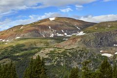 Hoosier Pass, Colorado. Scenic view from a hiking trail at Hoosier Pass, located near Breckenridge, Colorado Royalty Free Stock Photo