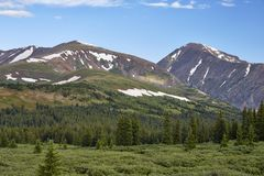 Hoosier Pass, Colorado. Scenic view from a hiking trail at Hoosier Pass, located near Breckenridge, Colorado Stock Image
