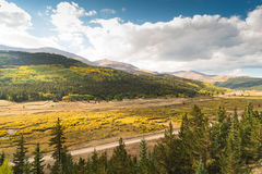Hoosier Pass near Breckenridge in the afternoon stock photography