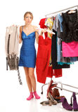 Сhoosing dresses Stock Image