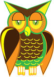 Hoot owl Vector art. Vector shapes creating a hoot owl Royalty Free Stock Photography