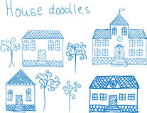 Hoouse doodles Stock Photos