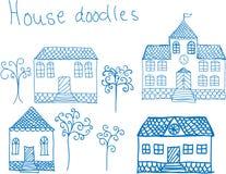 Hoouse doodles Stock Photos