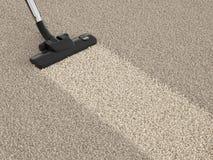 Hoover пылесоса на пакостном ковре Концепция чистки дома Стоковые Фотографии RF