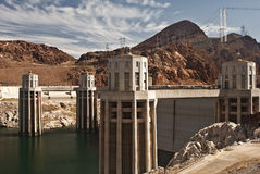 Hoover Dam. This is a picture of the water intake towers at Hoover Dam, just outside of Las Vegas, Nevada Royalty Free Stock Image