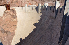 Hoover Dam. On the border between the U.S. states of Arizona and Nevada Royalty Free Stock Image