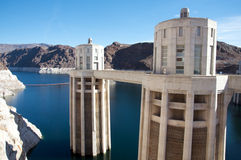Hoover Dam. Panoramic scene of the Hoover Dam Royalty Free Stock Image
