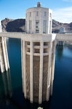Hoover Dam. Panoramic scene of the Hoover Dam Stock Image