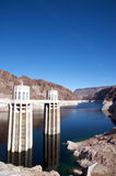 Hoover Dam. Panoramic of the Hoover Dam during a sunny day Stock Image