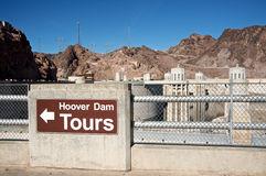Hoover Dam. Historic Hoover Dam tours Sign Stock Photos