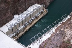 Hoover Dam. California - Colorado river Stock Photo